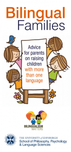 bilingual families leaflet front cover