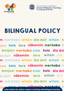 bilingualism matters policy leaflet front cover