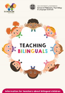 bilingualism matters teachers leaflet front cover