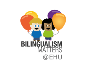Logo of bilingualism matters in the basque country